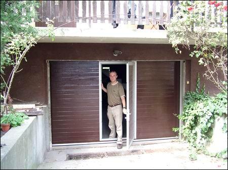 ECOTOR garázskapu ajtóval