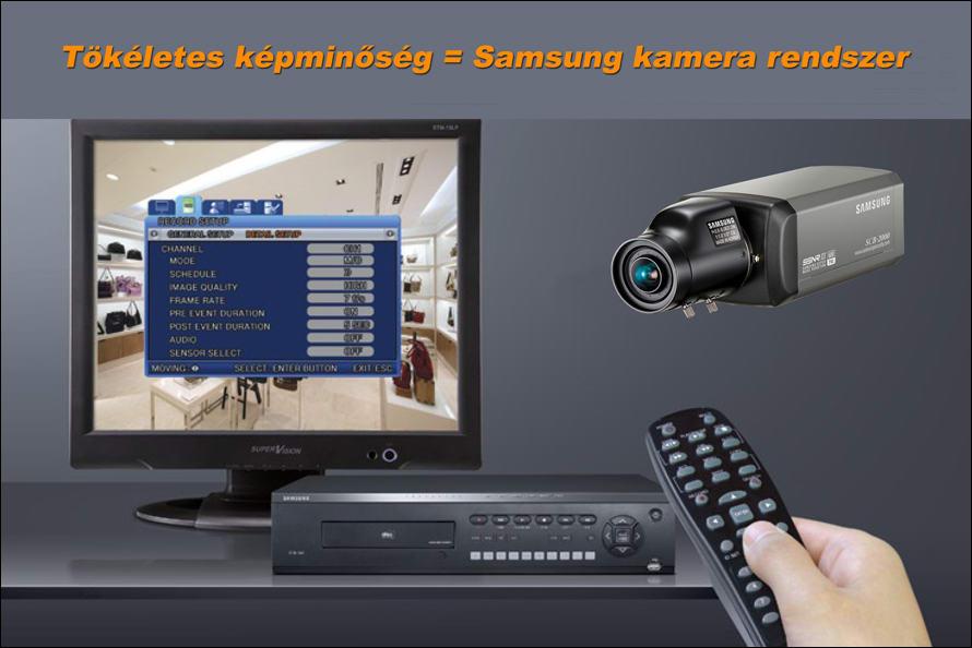Mindent látó biztonságtechnika a SAMSUNG kamera rendszer