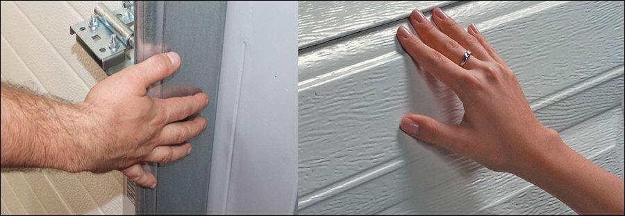 Oldalsó benyúlás és ujjbecsípődés ellen védett a biztonságos használatú DITEC garázskapu
